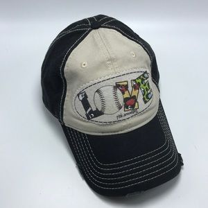 Distressed Baseball Theme Cap